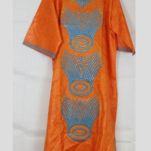 Orange Afri Ladies gown